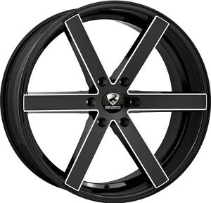 26 Inch 26x10 Ravetti Black Milled Wheel Rim 6x5 5 6x139 7 25