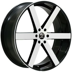 26 Inch 26x10 Ravetti Black Machine Wheel Rim 6x5 5 6x139 7 25
