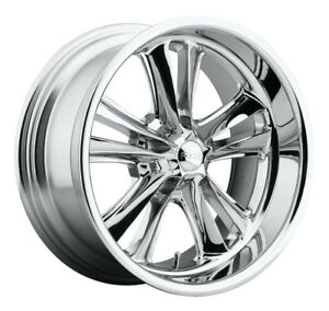17 Inch 17x8 Foose Knuckle F097 Chrome Free Lugs Wheel Rim 5x4 5 5x114 3 01
