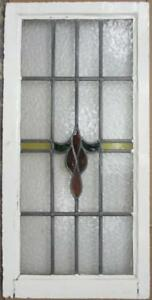 Large Old English Leaded Stained Glass Window Stunning Band Drop 19 5 X 40