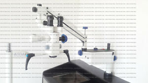 Wall Mount Dental Microscope 3 Step 45 fix Binoculars hd Camera led Full Set
