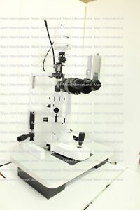 Slit Lamp 5 Step Haag Streit Type With Beam Splitter c Mount Camera Attachment