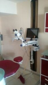 Portable Dental Surgical Microscope With Led Monitor
