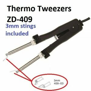 Exc Soldering Iron Thermo Tweezers For Dismantling 48w 220v With 2 Stings