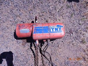 Duff Lynx 2 Ton Electric Chain Hoist 3 Phase With Free Shipping