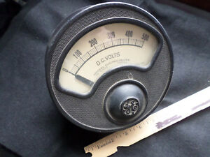 Vintage Large Western Electric 500 V Dc D 8 Analog Panel Meter