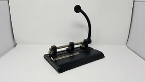 Vintage Mid Century Master Products Yale Handle 2 3 Hole Paper Punch 1340pb