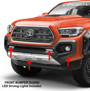 Toyota Tacoma Maxi Offroad Front Bumper Guard With Led Lights Skid Plate