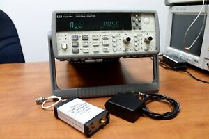 Agilent Hp 53131a 012 Frequency Counter And 1 100 22ghz Microwave Divider