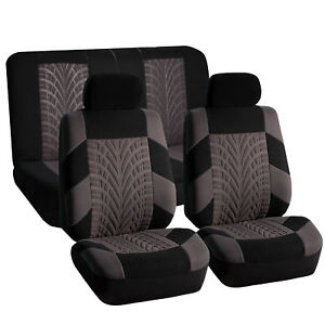 Sports Seat Covers Gray Black For Auto Car Suv Full Interior Top Quality