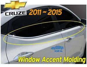 Window Accent Molding Chrome Garnish K 262 Silver For Chevy Holden Cruze 2011 15