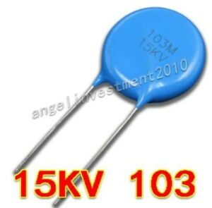 20pcs High Voltage Ceramic Capacitor 15kv103 15000v 0 01 f 10nf 10000pf