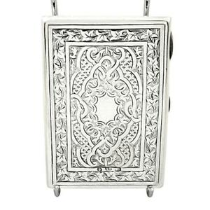 Antique Victorian Sterling Silver Card Case Aide Memoire 1875 George Unite