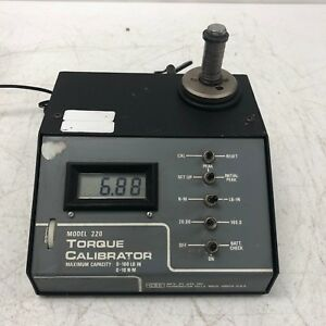 Gse Model 220 Torque Calibrator W Power Adapter