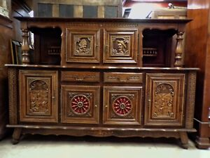 Vintage Brittany Dining Room Buffet French Vintage Sideboard Circa 1960
