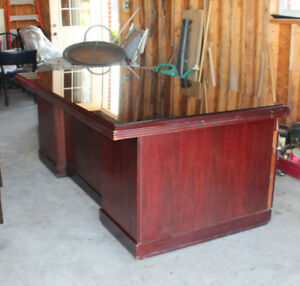 3 Pc Executive Desk Hutch Credenza Set Solid Wood Cherry Local Pu Ft Worth Metro