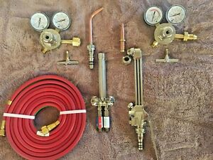 smith Cutting Torch Welding Set With Regulators Hose n tips victor harris
