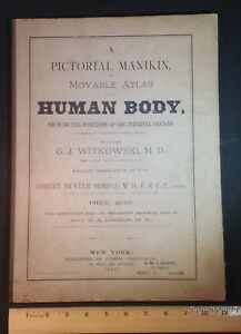 1880 Pictorial Manikin Or Movable Atlas Human Body G J Witkowski Md