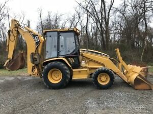Caterpillar 426c Backhoe Loader Extend a hoe 4x4 Cab Diesel Cat Tractor Back Hoe