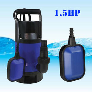 1 5hp Dirty Water Submersible Plastic Pump Pool Pond Flood Drain 1100w Durable