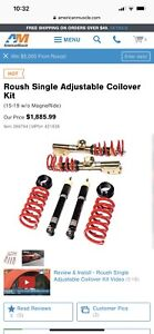 Roush Performance Adjustable Coilover Suspension Kit 15 19 Mustang 421839