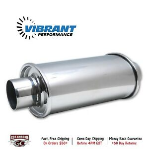 1142 Vibrant Performance Ultra Quiet Resonator 3 Inlet 3 Outlet Stainless
