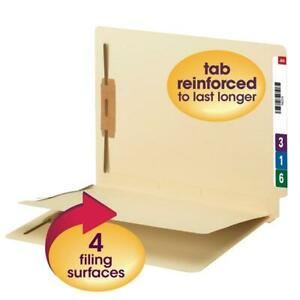 Smead End Tab Fastener File Folder With Divider Reinforced Straight cut Tab 4