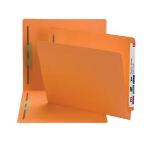 Smead End Tab Fastener File Folder Straight cut 2 Fasteners 50 box 25640