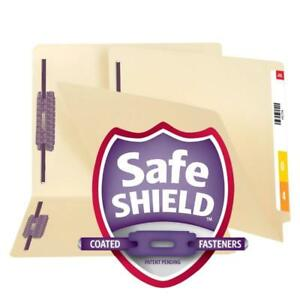 Smead End Tab File Folder With Safeshield Fasteners Reinforced Straight cut Ta