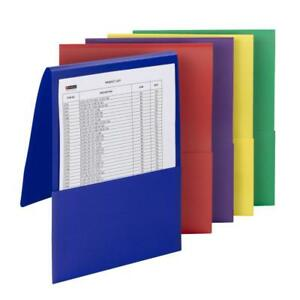 Carton Of 50 Smead Poly Backpack File Folders Letter Size Assorted 87844