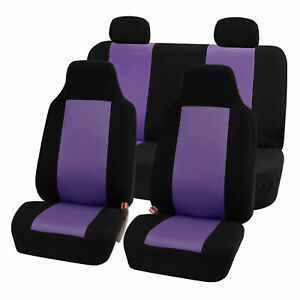 Highback Seat Covers Seat For Car Auto Suv Van Full Set Purple Black