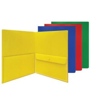 Carton Of 48 Smead Two Pocket Poly File Folders Security Envelope Letter 87710