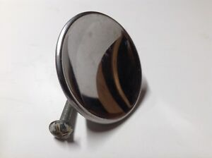 New Old Stock Vintage 2 Chrome Drawer Knob With Screw Cabinet Door Pull Concave
