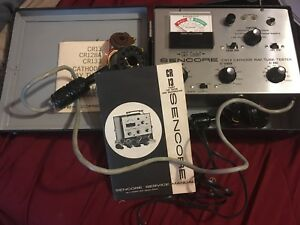 Sencore Cr133 Cathode Ray Tube Tester Crt Rejuvenator With Manual And Adapters