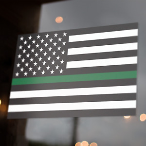 Thin Green Line American Flag Decal 5x3 Sticker Us Usa Military Federal Agent