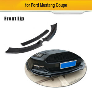Fits Ford Mustang 2door 3pcs Front Bumper Lip Auto Chin Splitters Body Kit 15 17