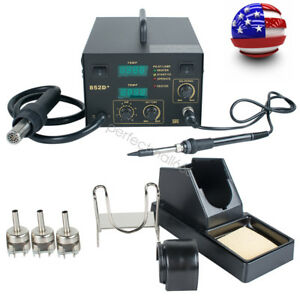 2in1 Hot Air Iron Gun Smd Rework Soldering Desoldering Station Welder Machine