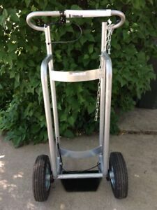 Cylinder Cart Truck Aluminum With Break Dayton 2mpv4 New