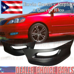 For 2005 06 07 2008 Toyota Corolla Front Bumper Body Kit Lower Lip Chins S Style