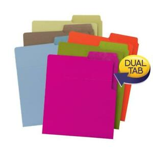 Smead Organized Up heavyweight Vertical File Folders Dual Tabs Letter Size Ca