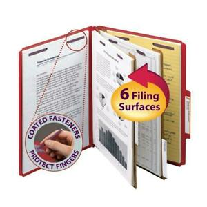 Smead Pressboard Classification File With Safeshield Fasteners 2 Dividers 2