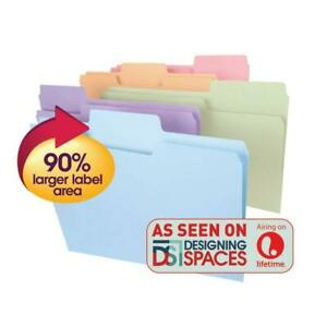 Smead Supertab File Folder Oversized 1 3 cut Tab Legal Size Assorted Colors