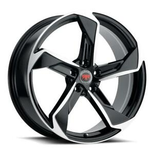 17 Inch 17x7 5 Revolution Racing Rr20 Black Machined Wheel Rim 5x4 5 5x114 3 40
