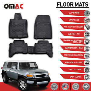 Floor Mats Liner 3d Molded Black For Toyota Fj Cruiser 2006 2014