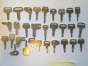 30 Heavy Equipment Key Set Construction Ignition Key Set Kubota Cat Bobca Deere