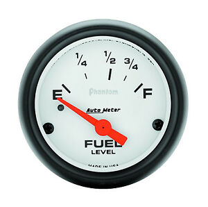 Autometer Phantom Electric Ford Mopar 73 Ohm 10 Ohm Fuel Level Gauge 2 1 16