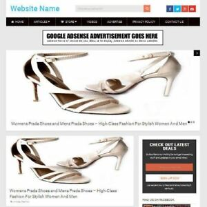 Ladies Shoe Store Work From Home Affiliate Website Business For Sale Domain