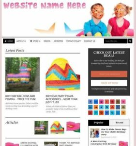Party Supplies Store Affiliate Website Business For Sale Domain Hosting