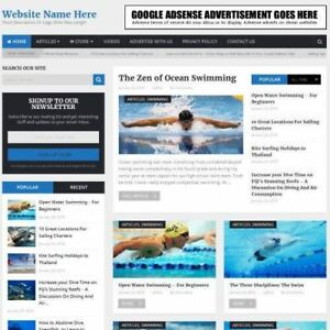 Water Sports Store Work From Home Business Website For Sale Domain Hosting