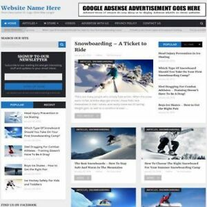 Winter Sports Store Home Based Online Business Website For Sale Domain